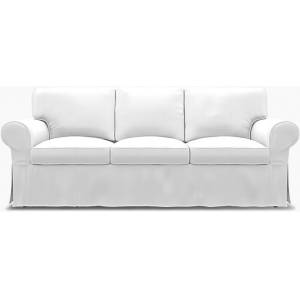 Bemz IKEA - Ektorp 3 Seater Sofa Bed Cover, Absolute White, Linen - Bemz