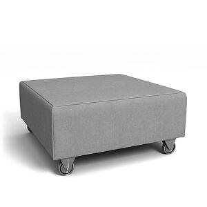 Bemz IKEA - Falsterbo Footstool Cover, Graphite, Linen - Bemz
