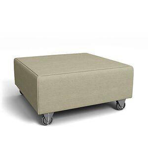 Bemz IKEA - Falsterbo Footstool Cover, Pebble, Linen - Bemz