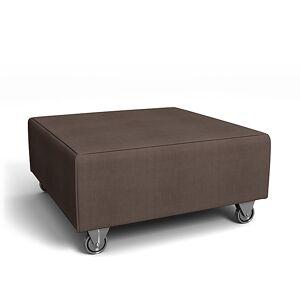 Bemz IKEA - Falsterbo Footstool Cover, Cocoa, Linen - Bemz