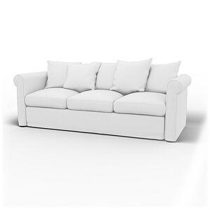Bemz IKEA - Grönlid 3 Seater Sofa Cover, Absolute White, Linen - Bemz