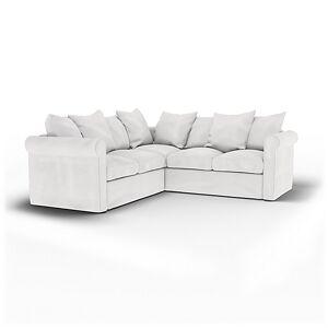 Bemz IKEA - Grönlid 4 Seater Corner Sofa Cover, Absolute White, Cotton - Bemz