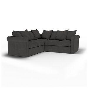 Bemz IKEA - Grönlid 4 Seater Corner Sofa Cover, Espresso, Linen - Bemz