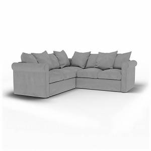 Bemz IKEA - Grönlid 4 Seater Corner Sofa Cover, Graphite, Linen - Bemz