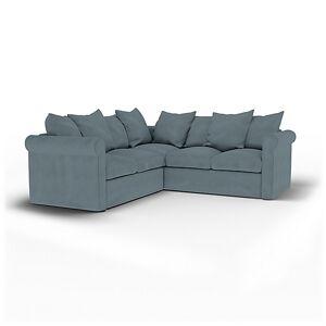 Bemz IKEA - Grönlid 4 Seater Corner Sofa Cover, Dusk, Linen - Bemz