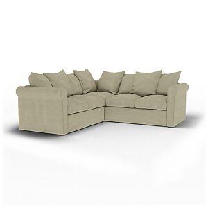 Bemz IKEA - Grönlid 4 Seater Corner Sofa Cover, Pebble, Linen - Bemz
