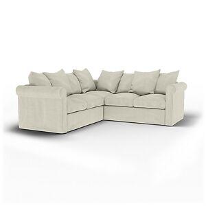 Bemz IKEA - Grönlid 4 Seater Corner Sofa Cover, Natural, Linen - Bemz