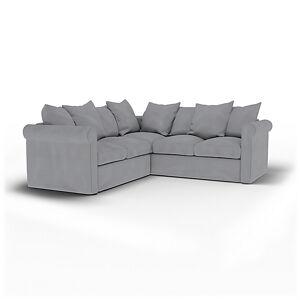 Bemz IKEA - Grönlid 4 Seater Corner Sofa Cover, Pewter, Linen - Bemz