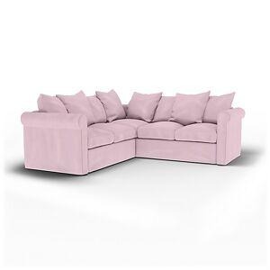 Bemz IKEA - Grönlid 4 Seater Corner Sofa Cover, Pale Rose, Linen - Bemz