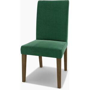 Bemz IKEA - Henriksdal Dining Chair Cover (Large model), Ivy Green, Velvet - Bemz