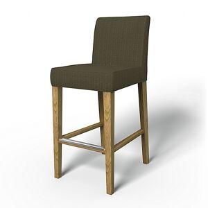 Bemz IKEA - Henriksdal Barstool Cover (Large model), Jet Black/Sand Beige, Conscious - Bemz