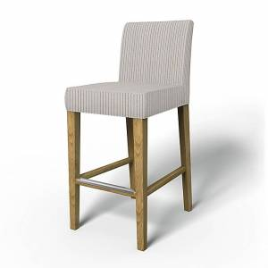 Bemz IKEA - Henriksdal Barstool Cover (Large model), Silver Grey, Conscious - Bemz