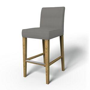 Bemz IKEA - Henriksdal Barstool Cover (Large model), Zinc Grey, Linen - Bemz