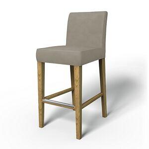 Bemz IKEA - Henriksdal Barstool Cover (Large model), Sand Beige, Velvet - Bemz