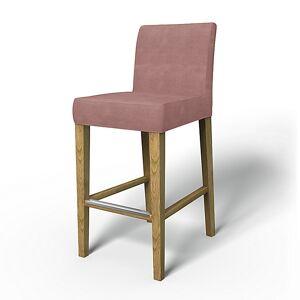 Bemz IKEA - Henriksdal Barstool Cover (Large model), Clover Pink, Velvet - Bemz