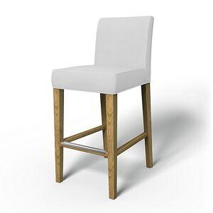 Bemz IKEA - Henriksdal Barstool Cover (Large model), Silver Grey, Cotton - Bemz
