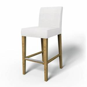 Bemz IKEA - Henriksdal Barstool Cover (Standard model), Absolute White, Cotton - Bemz