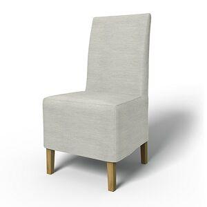 Bemz IKEA - Henriksdal Dining Chair Cover Medium skirt (Standard model), Silver Grey, Conscious - Bemz