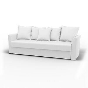 Bemz IKEA - Holmsund Sofabed, Absolute White, Linen - Bemz