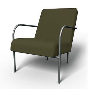 Bemz IKEA - IKEA PS Chair Cover, Moss Green, Cotton - Bemz