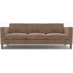 Bemz IKEA - Karlanda 3 Seater Sofa Cover, Pebble, Velvet - Bemz