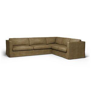 Bemz IKEA - Karlstad Corner Sofa Cover (3+2), Acorn, Velvet - Bemz