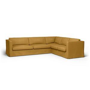 Bemz IKEA - Karlstad Corner Sofa Cover (3+2), Honey Mustard, Cotton - Bemz
