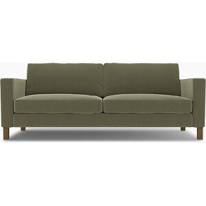 Bemz IKEA - Karlstad Sofa Bed Cover, Sage, Velvet - Bemz