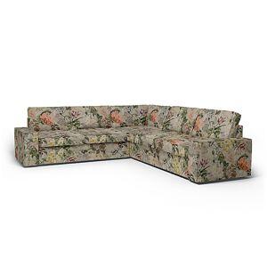 Bemz IKEA - Kivik Corner Sofa Cover (2+2), Delft Flower - Tuberose, Linen - Bemz
