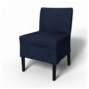 Bemz IKEA - Nils Dining Chair Cover, Deep Navy Blue, Cotton - Bemz