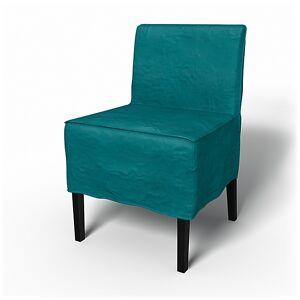 Bemz IKEA - Nils Dining Chair Cover, Teal Blue, Velvet - Bemz