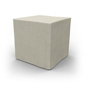 Bemz IKEA - Pällbo Footstool Cover, Natural, Linen - Bemz