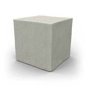 Bemz IKEA - Pällbo Footstool Cover, Silver Grey, Conscious - Bemz