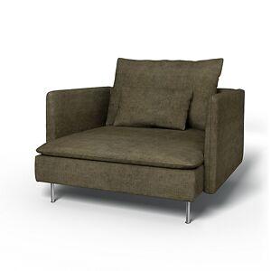 Bemz IKEA - Söderhamn Armchair Cover, Sage, Velvet - Bemz