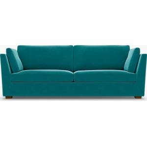 Bemz IKEA - Stockholm 3.5 Seater Sofa Cover, Teal Blue, Velvet - Bemz