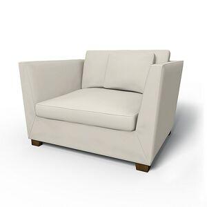 Bemz IKEA - Stockholm Armchair Cover, Eggshell, Velvet - Bemz