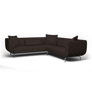 Bemz IKEA - Strömstad Corner Sofa Cover, Graphite Grey, Conscious - Bemz