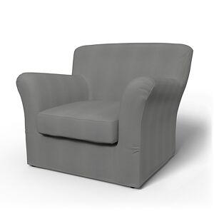 Bemz IKEA - Tomelilla Low Back Armchair Cover (Small), Zinc Grey, Cotton - Bemz