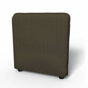 Bemz IKEA - Vallentuna Armrest Cover (80x60x13cm), Jet Black/Sand Beige, Conscious - Bemz