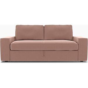 Bemz IKEA - Vilasund 3 seater sofa bed cover, Dusty Pink, Velvet - Bemz