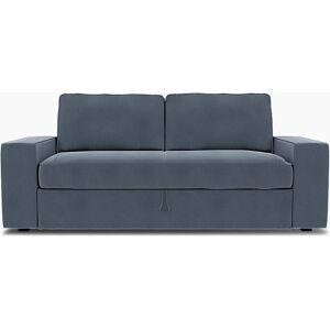 Bemz IKEA - Vilasund 3 seater sofa bed cover, Faded Blue, Velvet - Bemz