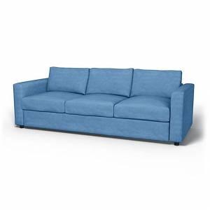 Bemz IKEA - Vimle 3 Seater Sofa Cover, Pigeon, Velvet - Bemz