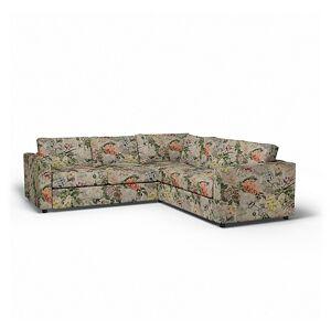 Bemz IKEA - Vimle Corner Sofa Cover (2+2), Delft Flower - Tuberose, Linen - Bemz