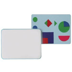 "Flipside Combination Flannel/Dry-Erase Bulletin Board, 18"" x 24"", Blue/White"