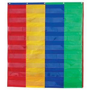 """Learning Resources 2- And 4-Column Double-Sided Pocket Chart, 38"""" x 30"""", Multicolor, Grade 1 - Grade 3"""