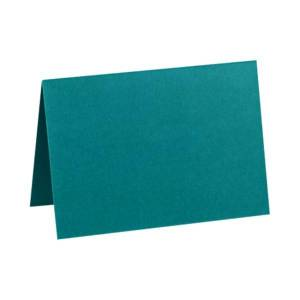 """LUX Folded Cards, A2, 4 1/4"""" x 5 1/2"""", Teal, Pack Of 500"""