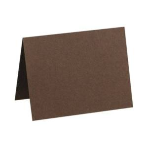 """LUX Folded Cards, A2, 4 1/4"""" x 5 1/2"""", Chocolate Brown, Pack Of 500"""