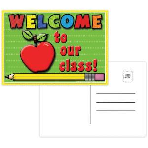 """Top Notch Teacher Products Welcome To Our Class Postcards, 4 1/2"""" x 6"""", Multicolor, 30 Postcards Per Pack, Bundle Of 12 Packs"""