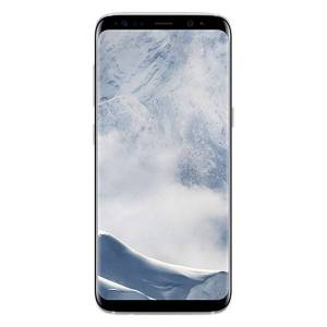 Samsung Galaxy S8 G950U Cell Phone, Arctic Silver, PSN101008