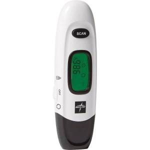 Medline No Touch Forehead Thermometer - Reusable, Dual Dial, Infrared - For Home, Forehead, Clinical - White